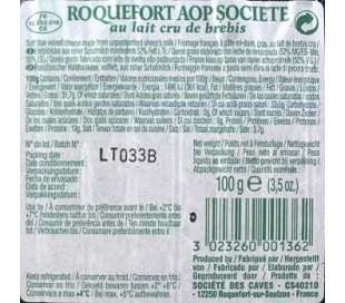QUESO ROQUEFORT SOCIETE 100 GRS.
