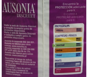 compresa-discreet-normal-ausonia-12-uds