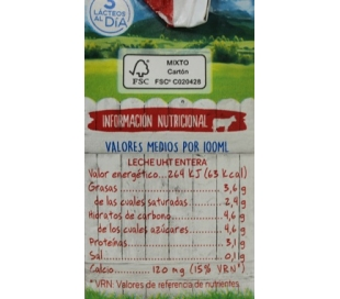 LECHE ENTERA, BRIK ASTURIANA 200 ML.