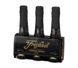 CAVA CORDON NEGRO BRUT, MINI FREIXENET PACK 3X200 ML.