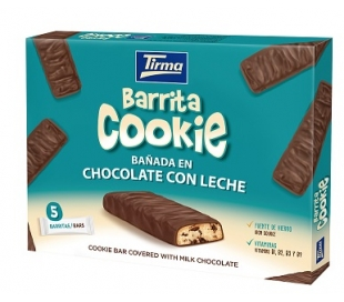 GALLETAS BARRITAS COOKIE,BAÑADA CHOCO. CON LECHE TIRMA 108 GRS.