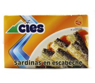 SARDINAS ESCABECHE CIES 120 GR.