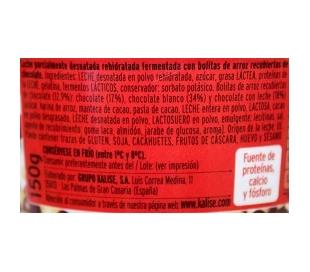 POSTRE DUO CON BOLITAS DE CHOCOLATE KALISE 150 GRS.