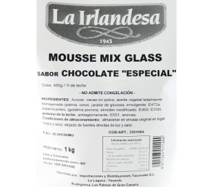 MOUSSE MIX GLASS CHOCOLATE IRLANDESA 1 KG.