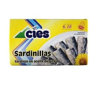 SARDINILLAS ACEITE GIRASOL CIES 60 GR.