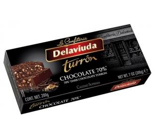 TURRON CHOCOLATE 70% DELAVIUDA 200 GRS.