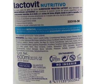 GEL DE BAÑO NUTRITIVO LACTOVIT 650 ML.