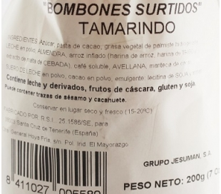 BOMBONES SURTIDOS BOLSA TAMARINDO 200 GR.