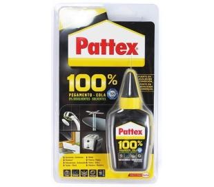 PEGAMENTO COLA 100% PATTEX 50 GRS.