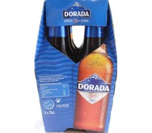 CERVEZA SIN ALCOHOL DORADA BOT. 6X250 ML.