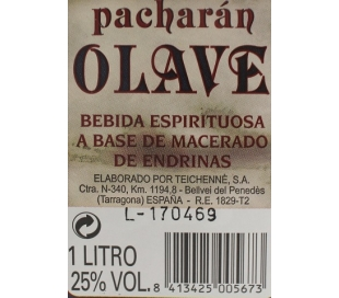 LICOR PACHARAN OLAVE 1 L.