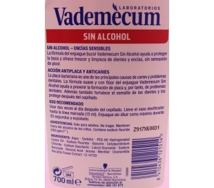 ENJUAGUE BUCAL NORMAL VADEMECUM 700 ML.