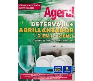 DETERGENTE+ABRILLANTADOR MAQUINA, LAVAVAJILLA AGERUL 5 L.