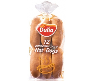 PAN HOT DOGS DULIA PACK 12X55 GRS.
