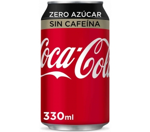REFRESCO ZERO SIN CAFEINA COCA COLA 330 ML.