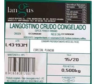 LANGOSTINO 15-20 CONGELADO LANGUS 500 GRS.