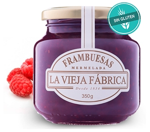 MERMELADA FRAMBUESA VIEJA FABRICA 350 GR.