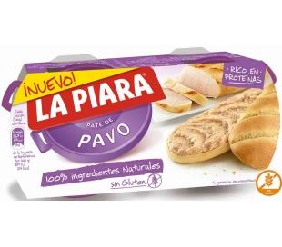 PATE PAVO SOLO NATURAL LA PIARA PACK 2X75 GRS.