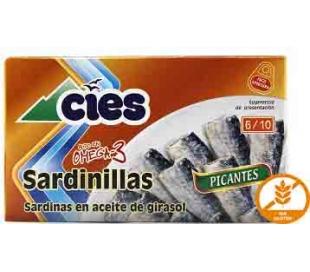 SARDINILLAS PICANTES CIES 90 GRS.