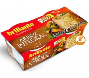 ARROZ INTEGRAL BRILLANTE PACK 2X125 GR.