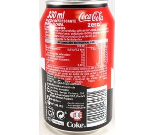 REFRESCO ZERO COCA COLA LATA 330 CC.