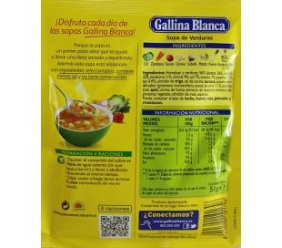SOPA VERDURAS GALLINA BLANCA 51 GR.