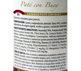 comida-perros-pate-con-buey-lata-canibaq-400-grs