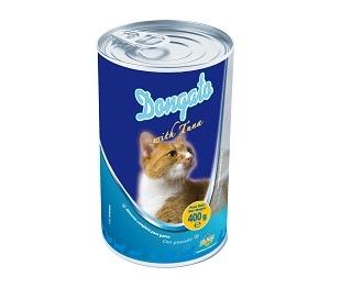 comida-gatos-pate-con-atun-lata-dongato-400-grs