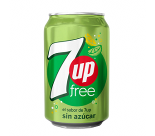 REFRESCO LIMA-LIMON FREE SEVEN-UP 330 CC.