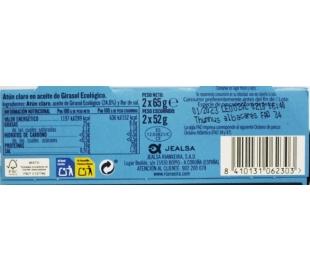 ATUN CLARO ACEITE GIRASOL ECOLOGICO, RIANXEIRA PACK 2X52 GRS.