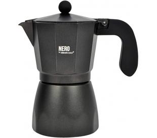 CAFETERA ALUMINIO NGRA. NERO 9 T.