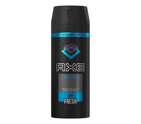 DESODORANTE SPRAY MARINE AXE 150 ML.