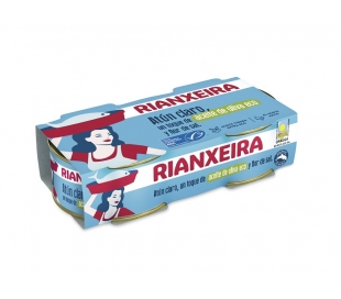 ATUN CLARO ACEITE OLIVA VIRGEN EXTRA ECOLOGICO, RIANXEIRA PACK 2X52 GRS.
