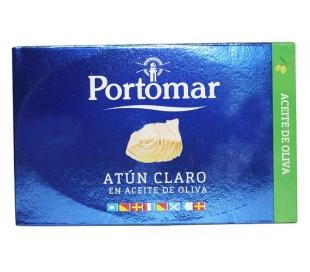 ATUN CLARO EN ACEITE DE OLIVA PORTOMAR 143 GRS.