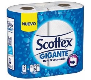 ROLLOS DE COCINA COMPACTO SCOTTEX 2 UN.