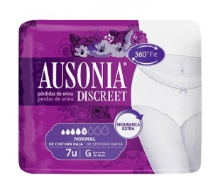 PRENDA INTERIOR DISCREET GRANDE, NORMAL AUSONIA 7 UDS.
