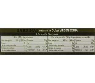 SARDINAS AC.OLIVA VIRGEN EXTRA ALBO 85 GR.