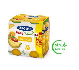 COMPOTA FRUTAS VARIADAS HERO BABY PACK 4X235 GRS.
