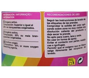 QUITAMANCHAS OXIGENO ACTIVO POLVO R-50 33 LAVADOS
