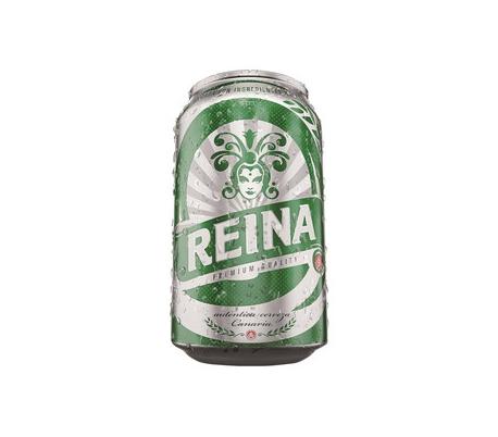 CERVEZA PREMIUM REINA ORO LATA 33 CL.