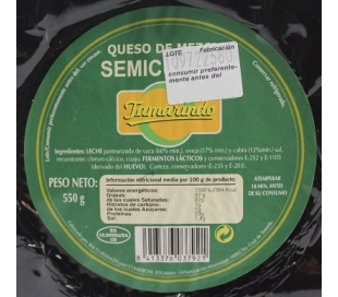 QUESO MEZCLA SEMICURADO TAMARINDO 550 GRS.