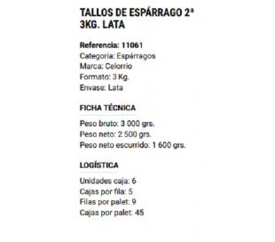 TALLOS ESPARRAGO 3KG