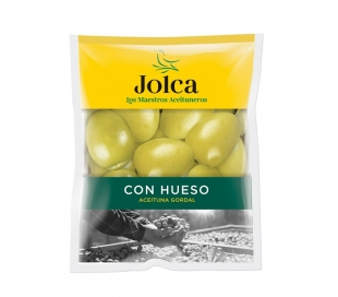 ACEITUNAS GORDAL CON HUESO JOLCA BOLSA 195 GR.