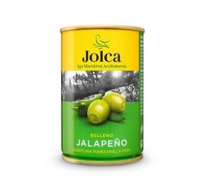 ACEITUNAS R/JALAPEÑOS CHILI JOLCA LATA 300 GR.