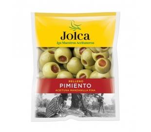 ACEITUNAS RELLENAS PIMIENTO JOLCA BOLSA 185 GR