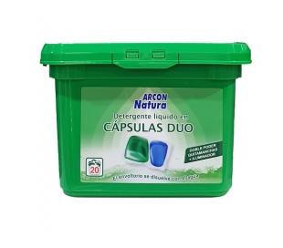 DETERGENTE CAPSULA HIDROSOLUBLES DUO ARCON NATURA 20 LAVADOS