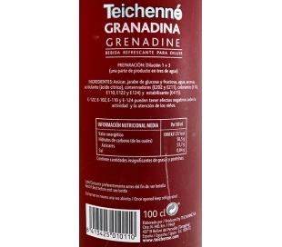 LICOR SIN ALCOHOL GRANADINA CONCENTRADO TEICHENNE 1 L.