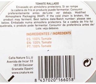 TOMATE RALLADO, REFRIGERADO CAÑA NATURE 180 GR.