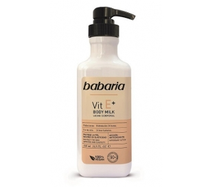 body-milk-vitamina-e-babaria-500-ml