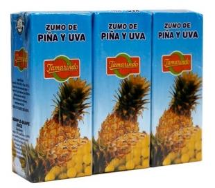 ZUMO PIÑA UVA TAMARINDO PACK 3X200 ML.